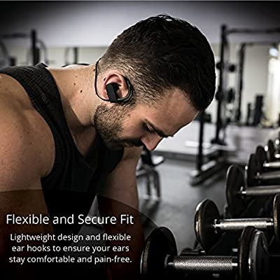 Bluetooth EarHook Earbuds: Best Wireless In Ear Hooks Earphones Sport Running Buds Workout Earpods Headphones Headset With Microphone For Apple iPhone Android Samsung Galaxy & All Bluetooth Devices