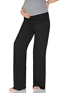 1108cb13c3dfd Beachcoco Women's Maternity Wide/Straight Comfortable Pants Made in USA