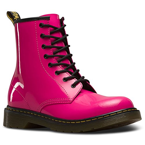 aney 8-Eyelet Hot Pink Leather Boots 6.5 M US Boys / 7.5 US ()