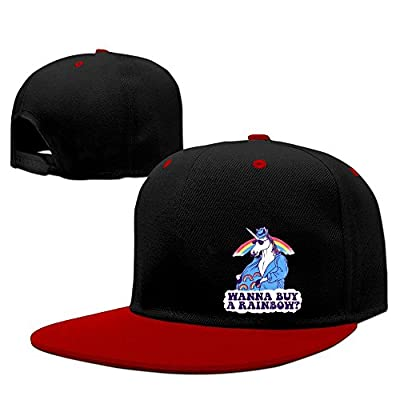 BDHESR Unicorn Snapback Hats For Men Cool Dancing Flat Bill Hats Fitted Hats For Men
