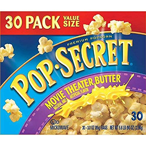 Pop Secret Popcorn, Movie Theater Butter, 30 Count bags Of 3.0oz Each by Pop Secret Popcorn