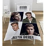 Justin Bieber Montage 2 Piece UK Single/US Twin Sheet Set – 1 x double sided sheet & 1 x pillowcase