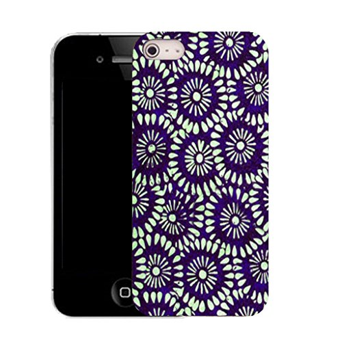 Mobile Case Mate IPhone 5S clip on Silicone Coque couverture case cover Pare-chocs + STYLET - blossoming decorative pattern (SILICON)