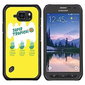 Dragon Case - FOR Samsung Galaxy S6 active/G870A/G890A (Not Fit S6) - super tropical - Caja protectora de pl??stico duro de la cubierta Dise?¡Ào Slim Fit