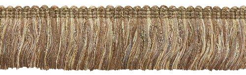 Brush Cut Fringe (DecoPro 5 Yard Value Pack - Beige Multi Tone Baroque Collection Brush Fringe 1 3/4