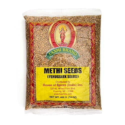 Laxmi Traditional Indian Spices Methi Seeds (Fenugreek Seeds) - Case Pack (20, 7oz Packets) by Laxmi