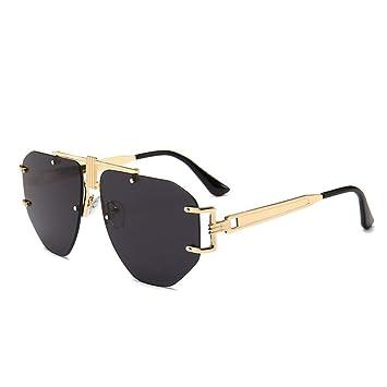 WAQWYQ Gafas Gafas de Sol sin Montura de Gran tamaño Nuevas ...