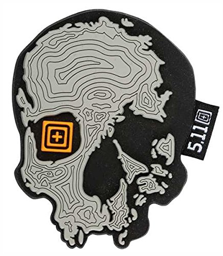 5.11 Tactical Topo Skull Patch, Grey
