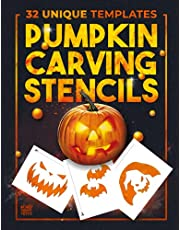 Pumpkin Carving Stencils: 32 Templates For Making Halloween Pumpkins / Funny Patterns Stencils For Kids And Adults