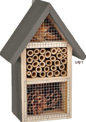 Insectos hotel N3 HD color negro/antracita/gris oscuro de madera cajas nido biológica