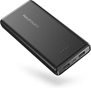 Power Bank Portable Charger 20000mAh RAVPower USB External Battery Pack Dual iSmart USB Ports Ultra Compact Phone Charger Compatible with iPhone 11 Pro Max Galaxy S10 Note 10 iPad Pro Android Devices