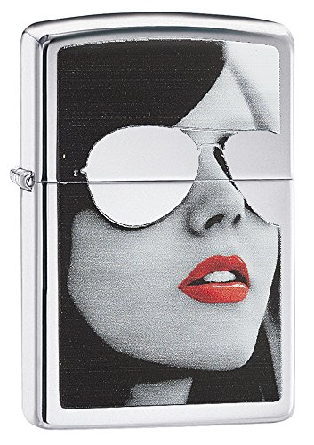 Zippo Sunglasses Pocket Lighter, High Polish Chrome