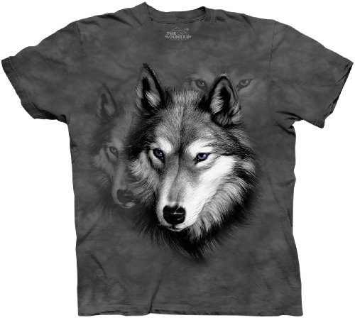 the-mountain-mens-wolf-portrait-short-sleeve-t-shirt-grey-xxx-large
