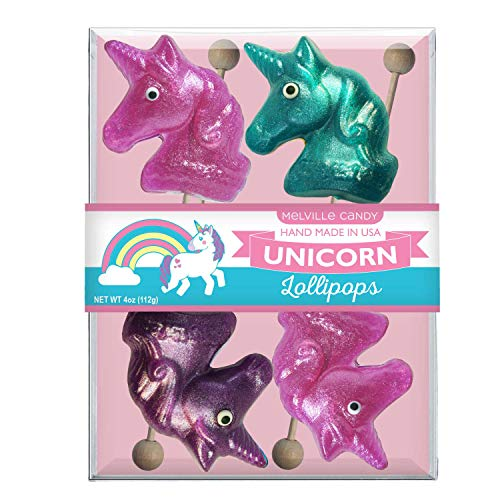- Melville Candy Glitter Unicorn Lollipop Assorted Pack