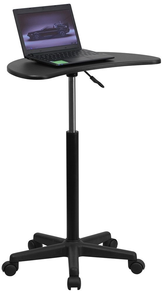 Flash Furniture Height Adjustable Mobile Laptop Computer Desk with Black Top (Pack of 2) by Flash Furniture (Image #2)