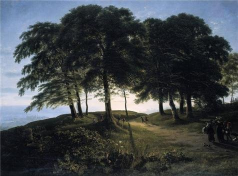 High Quality Polyster Canvas ,the Amazing Art Decorative Canvas Prints Of Oil Painting 'Karl Friedrich Schinkel-Morning,1813', 16x22 Inch / 41x55 Cm Is Best For Wall Art Decoration And Home Artwork And Gifts
