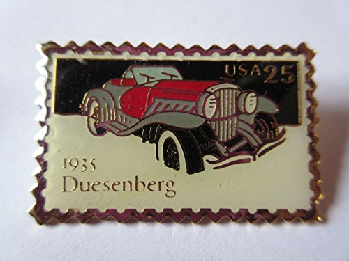 duesenberg-1935-car-post-office-postage-usps-stamp-pin-pinback-new
