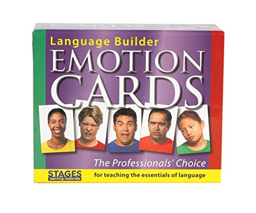 Stages Learning Materials Language Builder Emotion Picture Cards Expressions, Conversation, and Situation Photo Cards for Autism Education, ABA Therapy