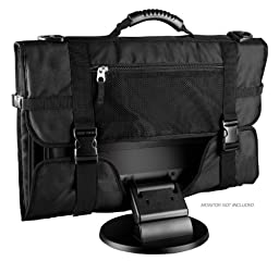 ROCCAT TUSKO Widescreen Gaming Bag Designed for up to 24-Inch Flatscreen Monitors, Black