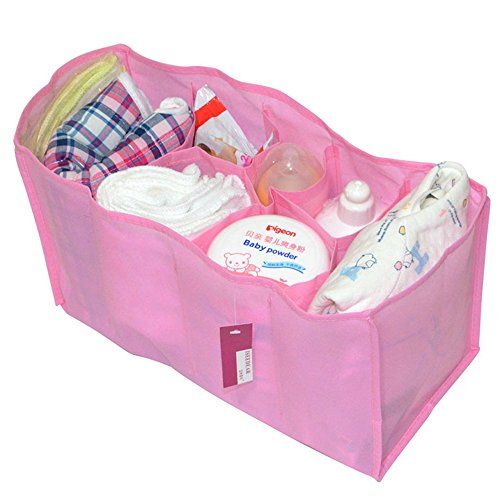 eonkoo-portable-baby-diaper-nappy-changing-organizer-insert-storage-bag-outdoor-liner-l-pink