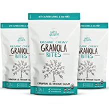 Simply Natural Organic Chewy Granola Cookie Bites, Energy Bar Snacks, Cinnamon & Brown Sugar, 7 Ounce Pouch, (Pack of 3)