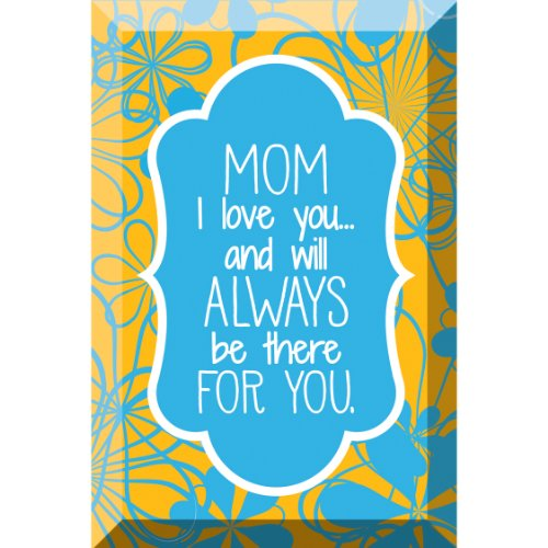 Mom I Love You Artisan Glass Plaque