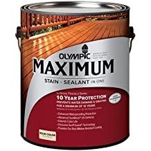 Olympic Ppg 79604A/01 Gal Nav Red Solid Stain Exterior Stain, Latex