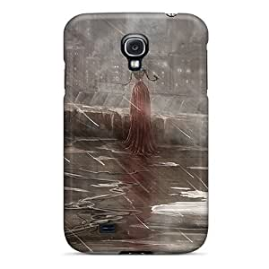 High Impact Dirt/shock Proof Case Cover For Galaxy S4 (lonely Girl Art)