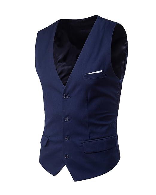b45bed77 Waistcoat Chaleco Hombre Traje Blazers Sin Mangas De Boda Casual Slim Fit:  Amazon.es: Ropa y accesorios