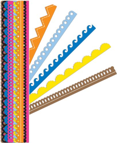 Scrapbooking Stickers Borders - K&Company Sheer Simplicity Bright Adhesive Borders