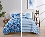 VCNY Home Tropical Bedding Quilt Set, King, Blue