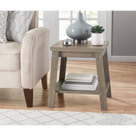 Mainstays Logan Side Telephone Table, Rustic Oak set of 2
