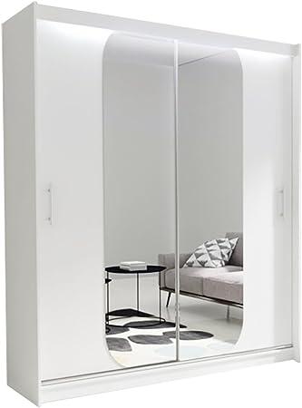 WARDROBE AVA 11 - Espejo de puerta corredera para dormitorio (ancho: 180 cm): Amazon.es: Hogar