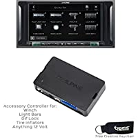 Alpine i207-WRA 7 CarPlay & Android Auto Receiver & KAC-001 Accessory Controller For Jeep JK Wranglers