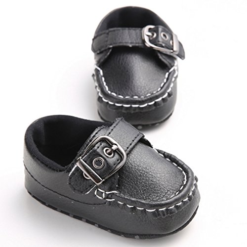 La Vogue Zapatos Bebés para Primeros Pasos Antideslizante Negro