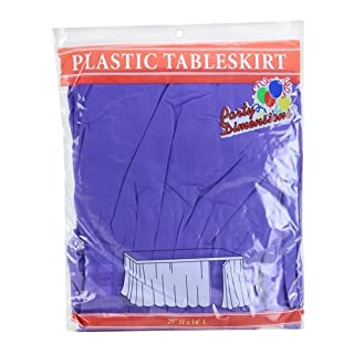 Party Dimensions Single Count Plastic Table Skirt, 29 by 14-Feet, Purple (B002HT53IG) | Amazon price tracker / tracking, Amazon price history charts, Amazon price watches, Amazon price drop alerts