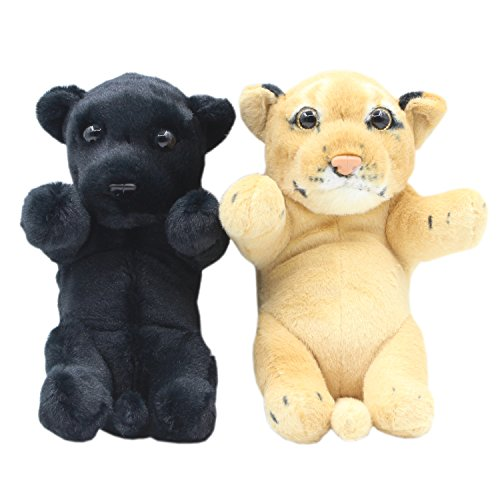 TAGLN Realistic Stuffed Animals Lion Lifelike Panther and Lioness Plush Toys (Lioness and Panther)