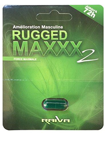 Rugged Maxxx 2 Raiva 10 Pack | 100% Herbal | Amelioration Masculine | Jusqu'a 72h