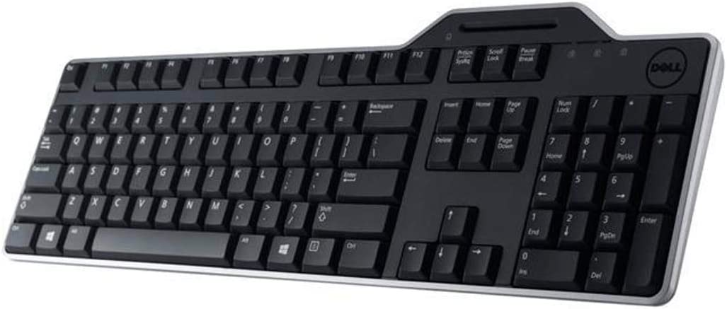 Dell Smartcard Keyboard (KB813-BK-US) Smartcard Reader, Wired USB, Black, US Key Layout