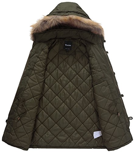 Inverno Sintetica Giacca Cappotto Pelliccia Verde Con Cotone Cappuccio Addensare Maschile Di Imbottita In Parka Wantdo fHdnqUOBwq