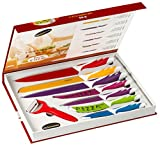 Home Kitchen Best Deals - Stainless steel Elite 8 Piece Kitchen Knife Gift Set - Premium Gift Box - For Chefs, Cooks, Commercial Kitchens, Homes, Culinary Schools - Use for Meats, Vegetables, Breads, Etc. - By Kitch N' Wares