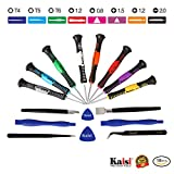PC Hardware : Kaisi 16-Piece Precision Screwdriver Set Repair Tool Kit for iPad, iPhone & Other Devices (Kaisi 16 Piece)