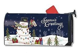 mailboxcover magnético Mailwrap luces de muñeco de nieve grande buzón cubierta