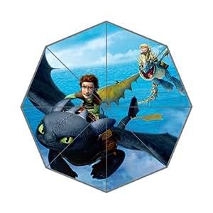 RainbowRain How to Train Your Dragon Pongee Polyester Fabric Resistant Rainy Sunny Compact Custom Foldable Umbrella 05