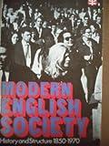 Modern English Society, Judith Ryder and Harold Silver, 0416555004