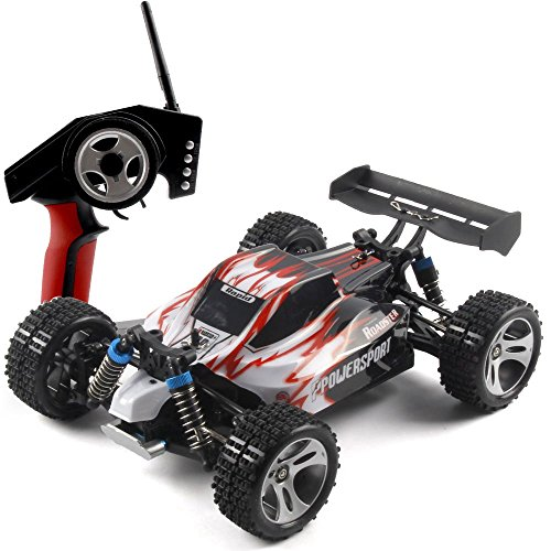 WLtoys A959 RC Car 4WD Shaft Drive Truck High Speed Race Off-road Vehicle Toy (Red)