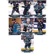 2013-14 Upper Deck NHL Hockey San Jose Sharks Series 1 Veterans Team Set -7 Cards Including: Marc-Edouard Vlasic Tommy Wingels Logan Couture Raffi Torres Scott Hannan Joe Thornton Dan Boyle