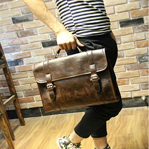 Shoulder Retro Tidog Korean Casual Box Bag Male Briefcase UTwP0w8zq