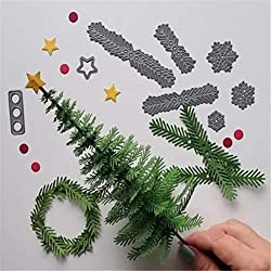 Mvchif Cutting Dies Metal Stencils Scrapbooking Tool DIY Craft Carbon Steel Embossing Template for Paper Card Making (Christmas Tree)