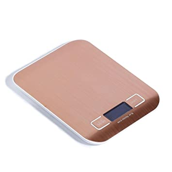 Daeou Balanza de cocina de acero inoxidable cara hogar horno salud alimentos balanza de pesaje electrónico: Amazon.es: Hogar